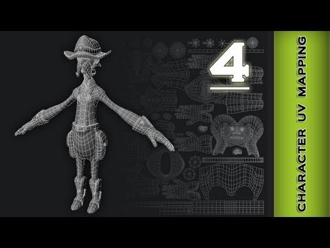 Autodesk Maya 2013 Tutorial - Character UV Mapping (Hat, Hair, Accessories) Part 4