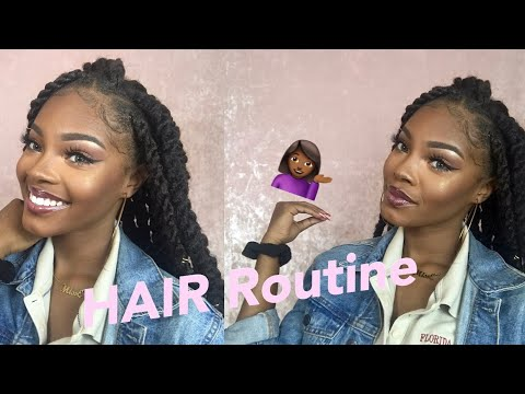 NIGHTTIME HAIR ROUTINE! | Maximizing GROWTH with Protective Styles - Braids/Marley Twists