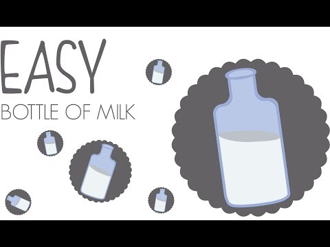 Flat Design TUTO : How to create a bottle of milk /ILLUSTRATOR