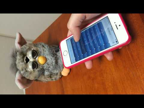 Furby controled from iPhone 5s (HTML5+JavaScript)