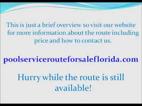 Pool service route business for sale in Florida - Pool service route for sale in Fort Lauderdale