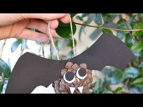 How To Make A Pine Cone Bat For Halloween - DIY Crafts Tutorial - Guidecentral