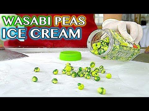 WASABI PEAS ICE CREAM ROLLS