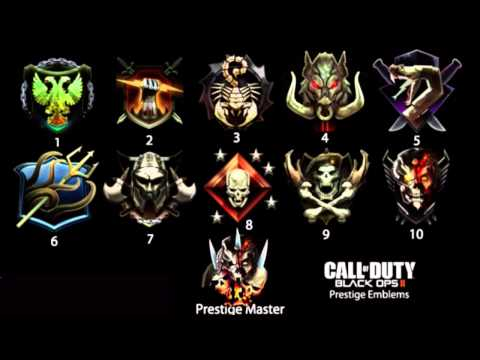 Black Ops 2 - All Prestiege Emblems + Prestiege Master
