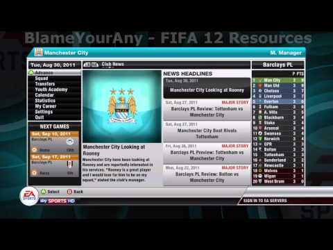 FIFA 12: All Career Mode Achievements/Trophies Guide (HD)