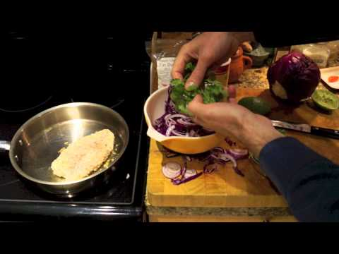Red Cabbage Slaw and Making Tacos
