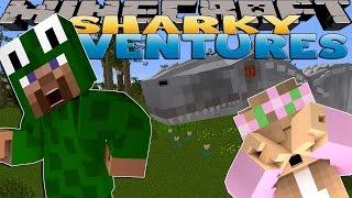 Minecraft SCHOOL - Sharky and Scuba Steve - JURASSIC PARK EVIL SCIENTIST!!