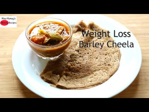 Instant Barley Cheela Recipe - How To Make Barley Chilla Breakfast Recipe For Weight Loss-Lose 2 Kgs