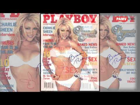 Hot sexy Brande on playboy magazine cover page in 2 piece