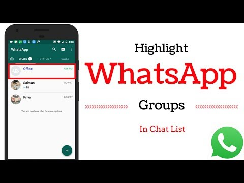 How To Highlight WhatsApp Groups in Chat List