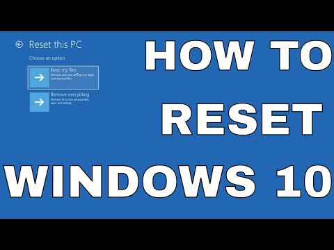 Windows 10 Restoring Your Computer Reset This PC Remove Everything