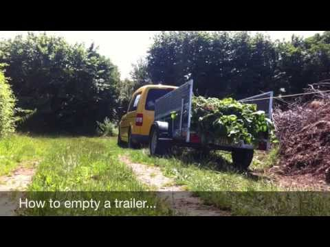 How to empty a garden trailer - the easy way