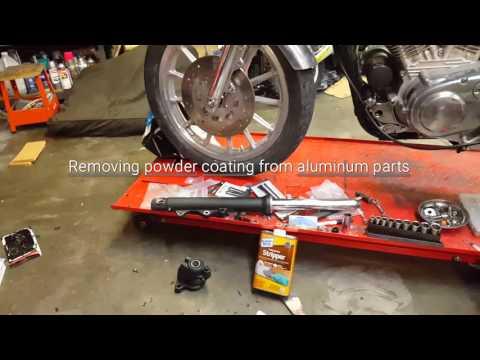 Removing powder coating from aluminum shortcut