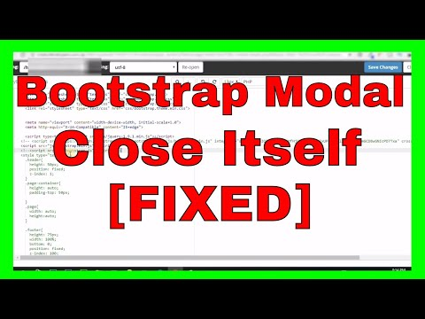 Bootstrap Modal Crash Closing By Itself [FIXED]