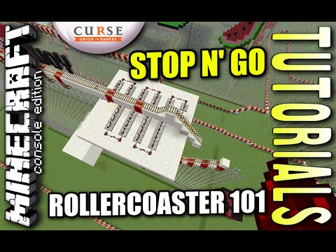 MINECRAFT - PS4 -MINECART STOP N GO - ROLLERCOASTER 101 - HOW TO - TUTORIAL ( PS3 / XBOX )