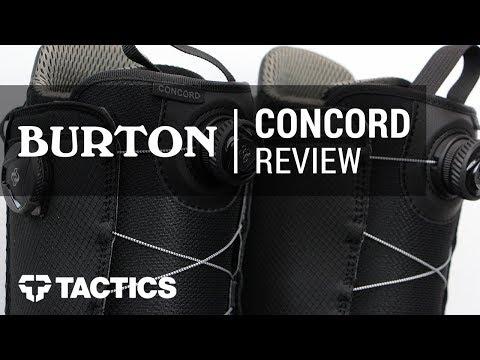 Burton Concord Boa 2018 Snowboard Boot Review - Tactics.com