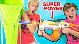 NERF GUN VS SLIME!! (SUPER POWER NERF GUNS)