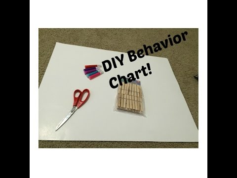 DIY Toddler and pre-school age Behavior Chart