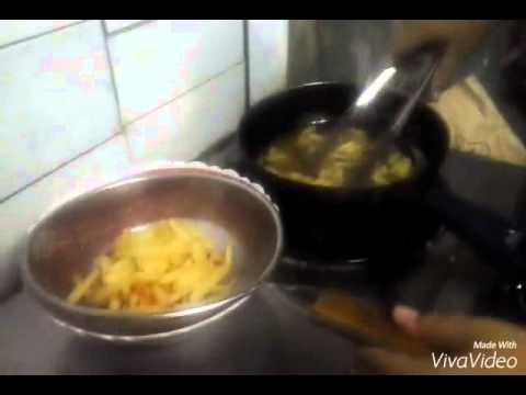 Making Shoestring Fries