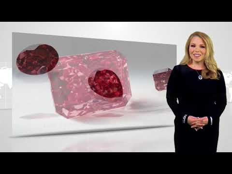 Fancy red radiant cut diamond - largest ever to appear at the tender ll Gem Shopping Network