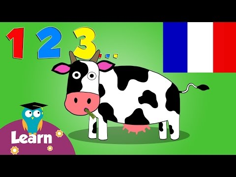 Learn to Count to 10 in French with Number Farm | Toddler Fun Learning