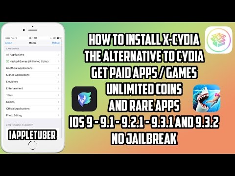 X-Cydia: Get Paid Games & Apps, Unlimited Coins & Rare Apps FREE iOS 9 - 9.2.1 - 9.3.2 (No J/B - PC)