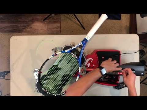 How to string a Tennis Racket  Gamma Progression with Wise TennisHead 2086 No music Version