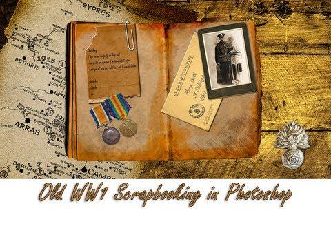 Old WW1 Scrapbooking