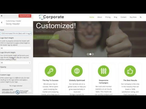 Shrink Sticky Header - Total WordPress Theme