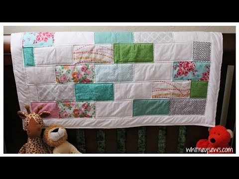 Bricks and Blocks Quilt How to | Whitney Sews