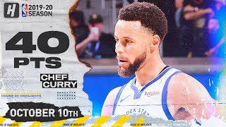 Stephen Curry IN MVP MODE! EPIC Highlights vs Timberwolves 2019.10.10 - 40 Points in 25 Minutes!