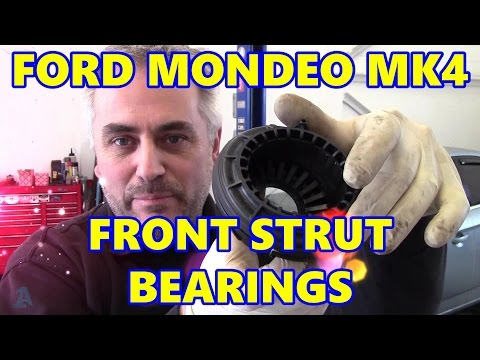 Ford Mondeo MK4 Front Top Strut Bearings Clunk as Steering Turned