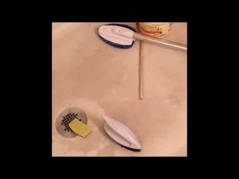 Part 1 Cleaning Textured Fiberglass Shower Floor w/Baking Soda &Vinegar