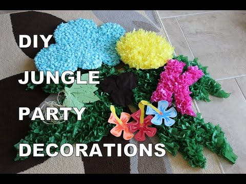 DIY Jungle Party Decorations