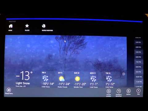 Windows 8 - How to use and setup bing weather app