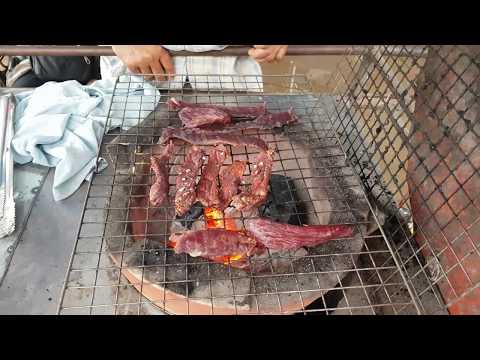 Khmer grill dried buffalo meat