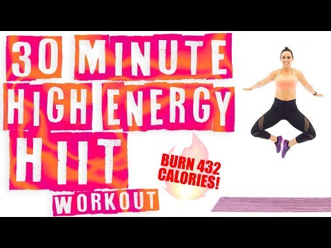 30 Minute High Energy HIIT Workout 🔥Burn 432 Calories! 🔥