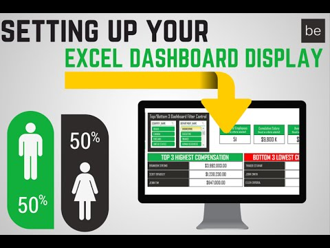 Step 4: Building the Excel Dashboard Display with Shapes with Name Range Associations