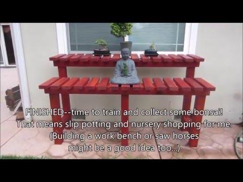 How to Build a Beginner Bonsai Bench