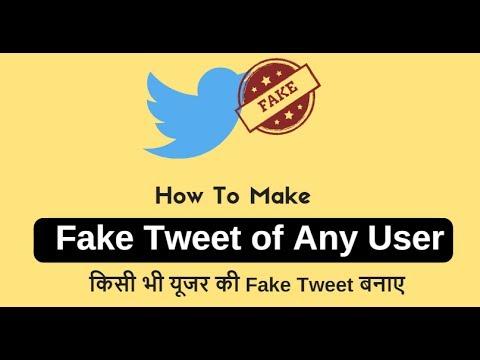 How to Make Fake Tweet Of Any user - किसी भी ट्विटर यूजर की fake tweet बनाए