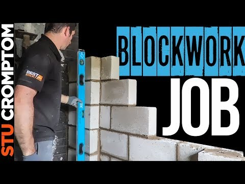 BLOCKWORK JOB laying concrete solid block