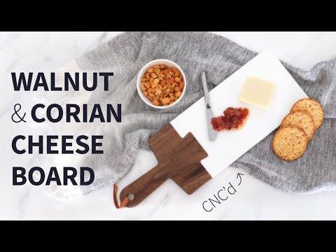 Walnut & corian cheese board CNC | How to make