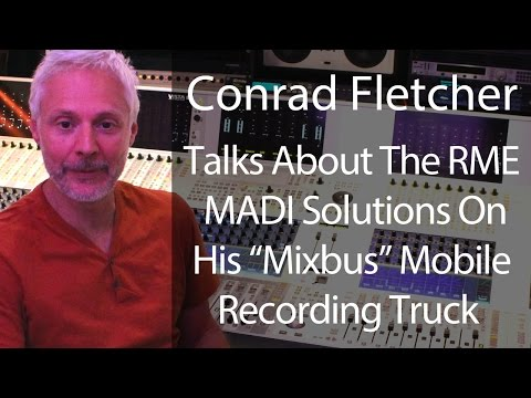RME on the Mixbus - Interview with Conrad Fletcher on MADI and RME - Synthax Audio