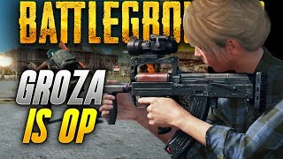Battlegrounds: GROZA IS SO POWERFUL! (Playerunknown