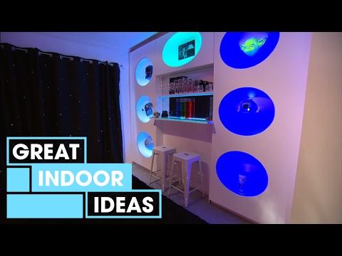 Futuristic Man-Cave Makeover | Indoor | Great Home Ideas