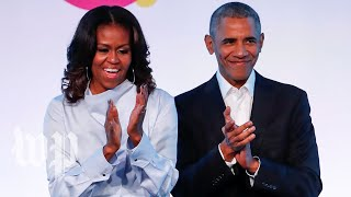 The Obamas attend unveiling of their portraits