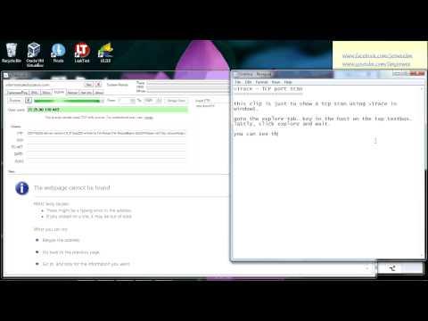 vTrace - Explore - TCP port scan