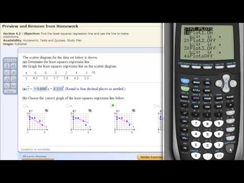 Least Squares Regression Line on the TI83 TI84 Calculator