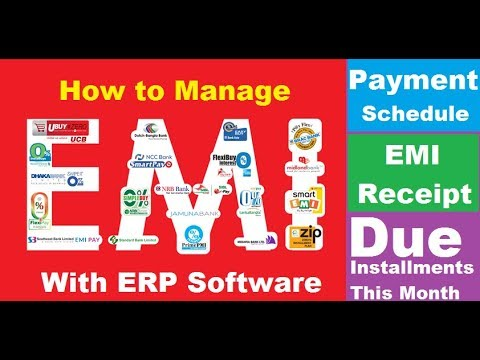 How to Manage EMI (Equal monthly Installments) using ERP Software