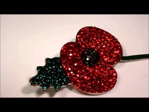 Crystal Remembrance Inspired Poppy Brooch